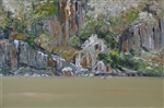 Tamar Series (719) Cliff Face, Cataract Gorge