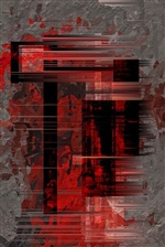 Abstract In Red 10