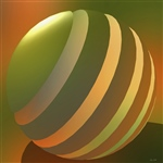 Orange and Green Abstract 6