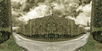 Tales from hyperreality (variations) #10 (Allee des Matelots Versailles) aka 'The Angel of Cer Villa'